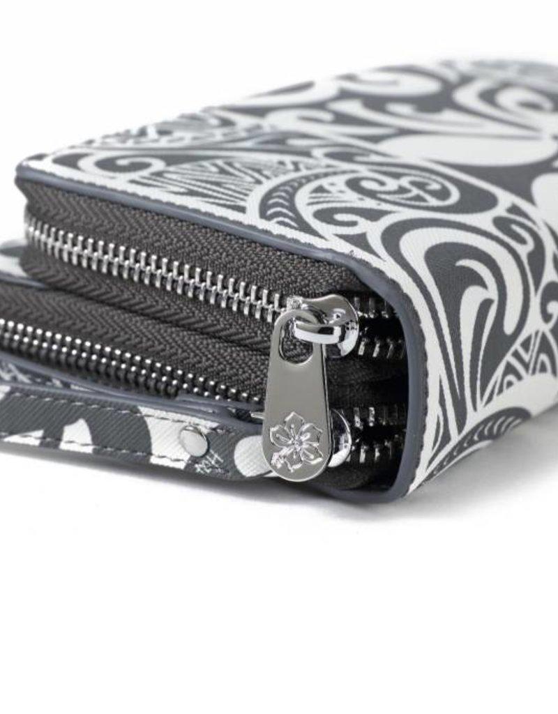 Happy Wahine Wallet Allison Tapa Tiare Grey
