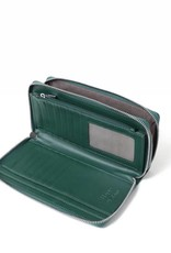 Happy Wahine Wallet Allison Tapa Tiare Green Embossed
