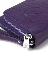 Wallet Allison Tapa Tiare Purple Embossed