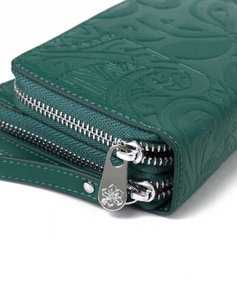 Wallet Allison Tapa Tiare Green Embossed
