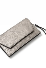 Happy Wahine Clutch Victoria Tapa Tiare Bronze Embossed