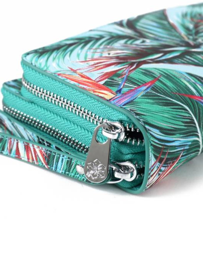 Happy Wahine Wallet Allison Bird of Paradise Blue