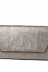 Clutch Victoria Tapa Tiare Bronze Embossed