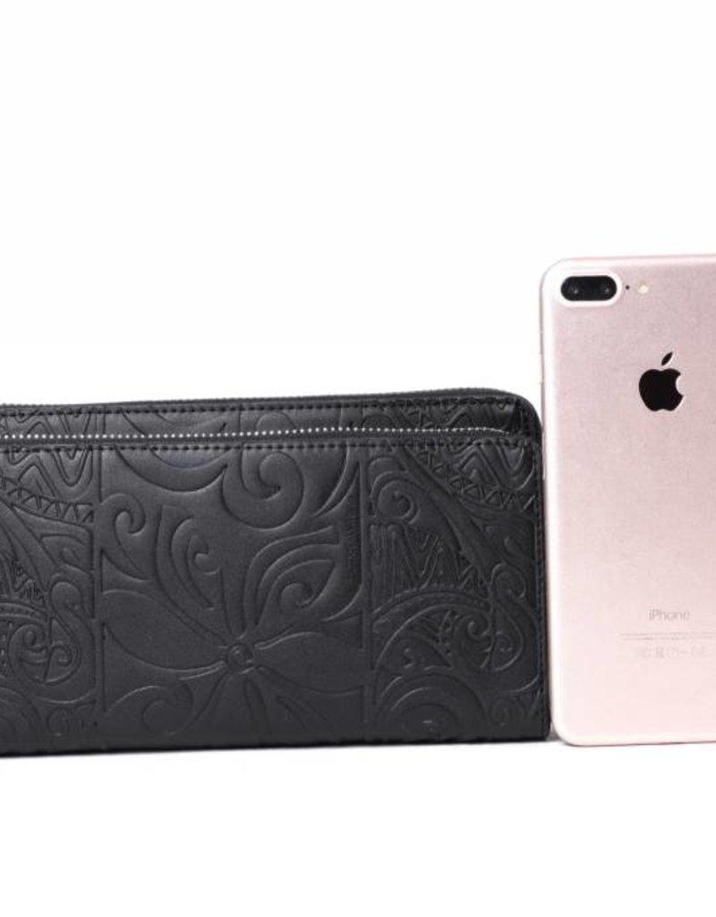 Wallet Allison Tapa Tiare Black Embossed