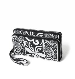 Happy Wahine Wallet Allison Tapa Tiare Black