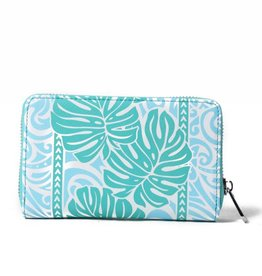 Happy Wahine Wallet Chloe Monstera Blue