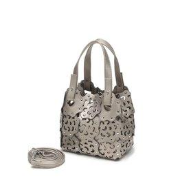Happy Wahine Handbag Pua Small Pewter Metallic