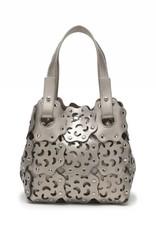 Handbag Pua Small Pewter Metallic