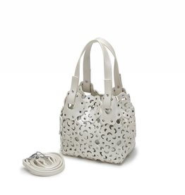 Happy Wahine Handbag Pua Small Ivory Metallic