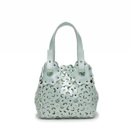 Happy Wahine Handbag Pua Small Green Metallic