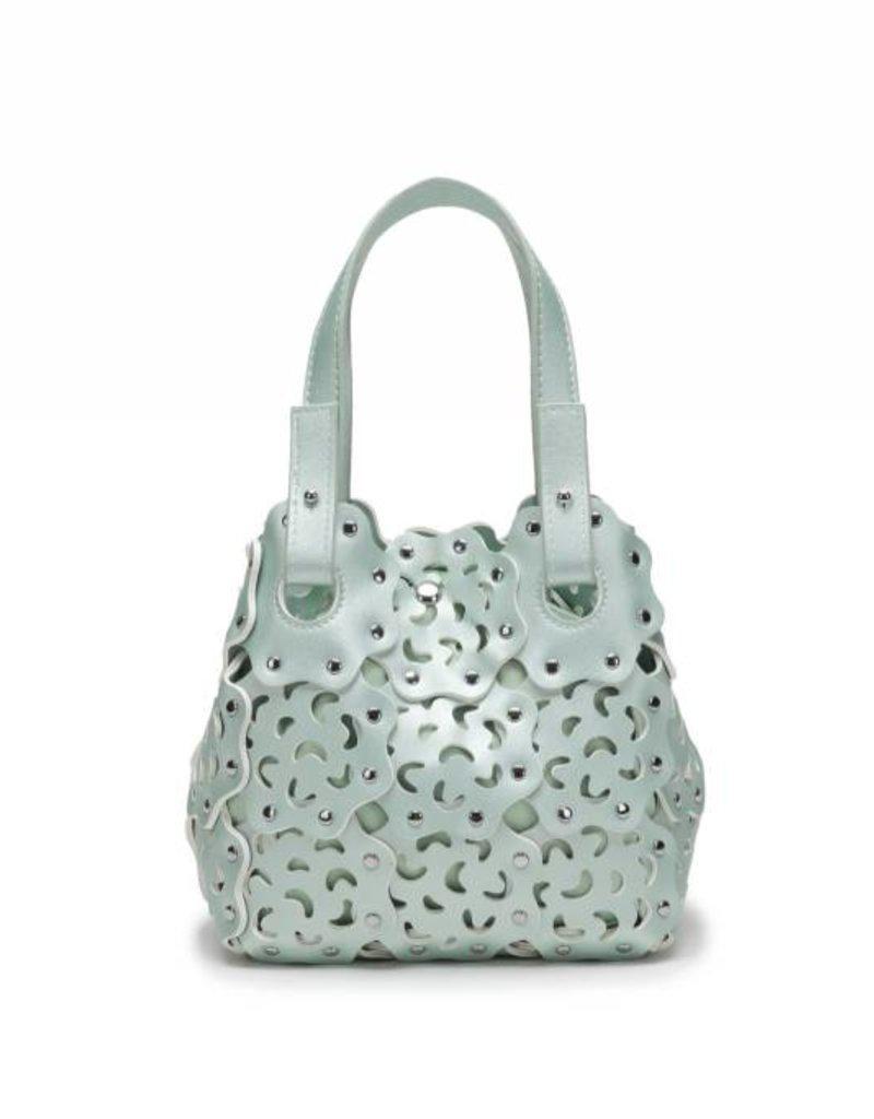 Happy Wahine Handbag Pua Small Green Metallic