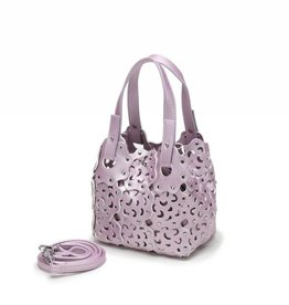 Happy Wahine Handbag Pua Small Pink Metallic