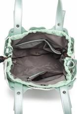 Handbag Pua Small Green Metallic