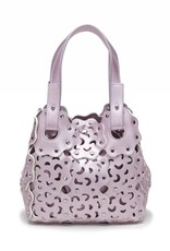 Handbag Pua Small Pink Metallic
