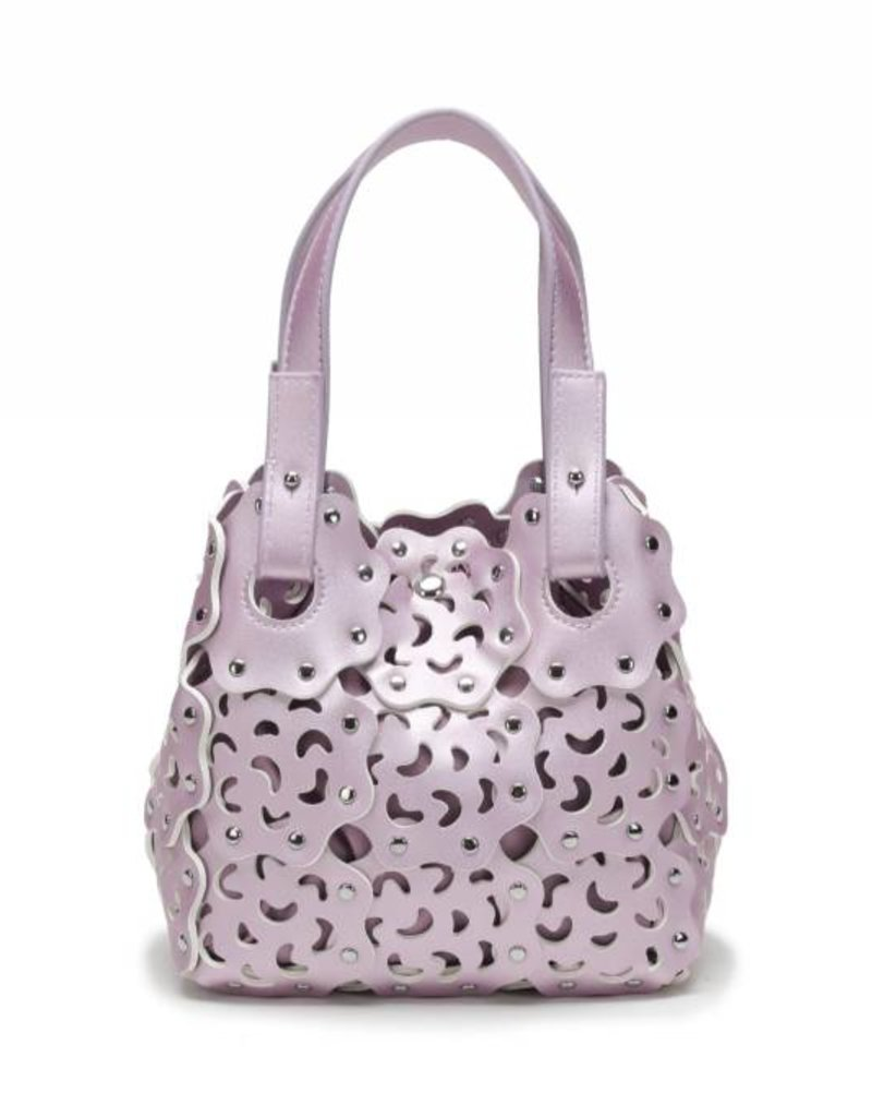 Happy Wahine Handbag Pua Small Pink Metallic