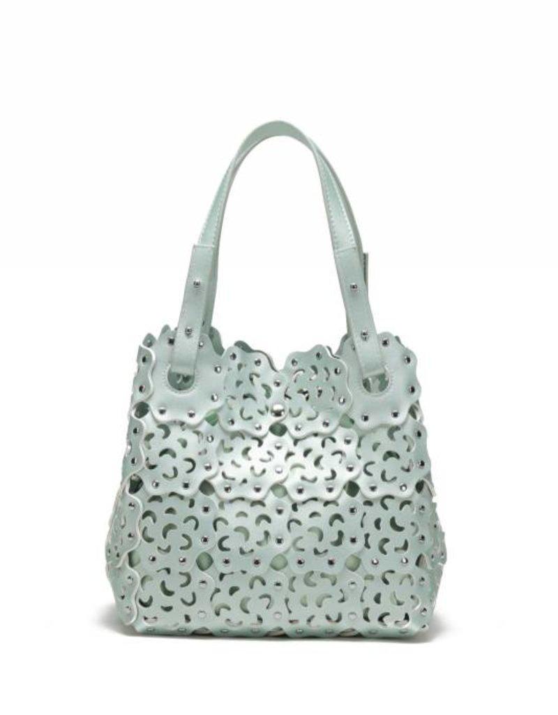 Handbag Pua Green Metallic