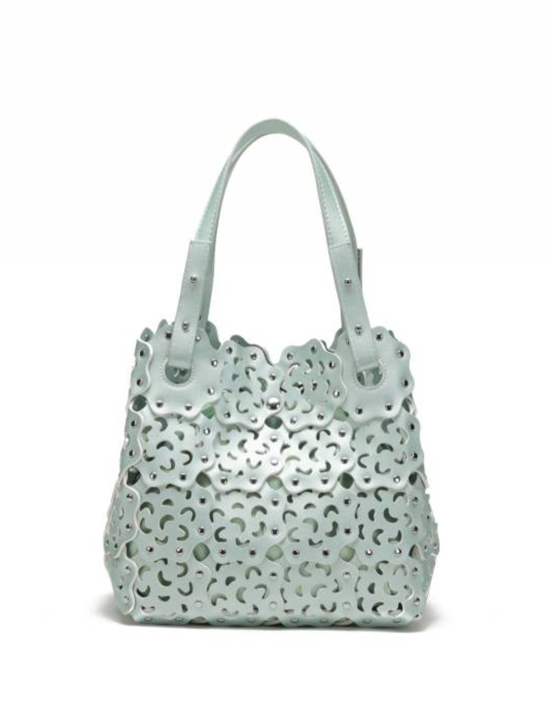 Happy Wahine Handbag Pua Green Metallic