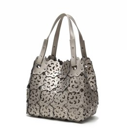 Handbag Pua Pewter Metallic