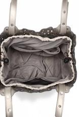Handbag Pua Pewter Metallic