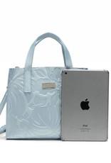 Handbag Katelyn Monstera Orchid Embossed Blue Metallic