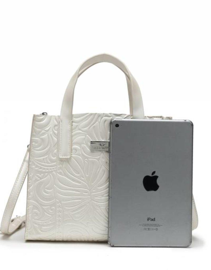 Handbag Katelyn Monstera Embossed Ivory