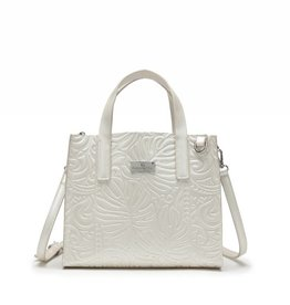 Happy Wahine Handbag Katelyn Monstera Embossed Ivory