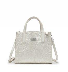 Happy Wahine Handbag Katelyn Monstera Embossed Ivory