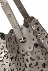 Happy Wahine Handbag Pua Pewter Metallic