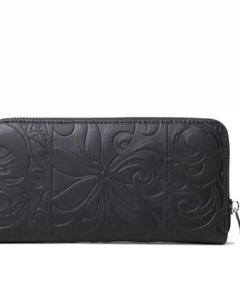 Wallet Kaylee Tapa Tiare Embossed Black