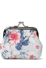 Everyday Hawaii EH Coin Purse Lrg Hibiscus Beige