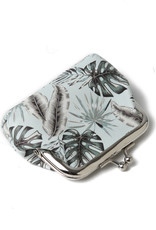Everyday Hawaii EH Coin Purse Lrg Monstera Teal