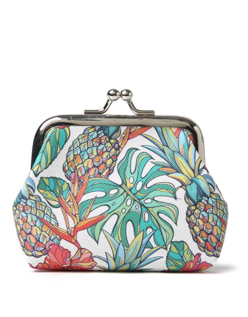 Everyday Hawaii EH Coin Purse Lrg Pineapple Beige