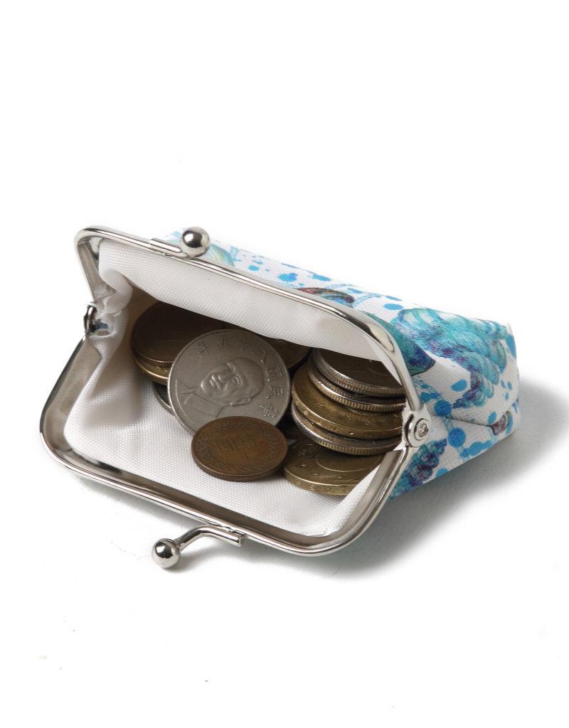 Everyday Hawaii EH Coin Purse Lrg Shells Beige