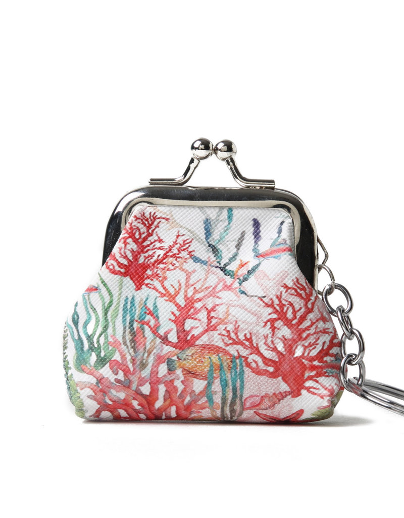 Everyday Hawaii EH Coin Purse Sml Coral Beige