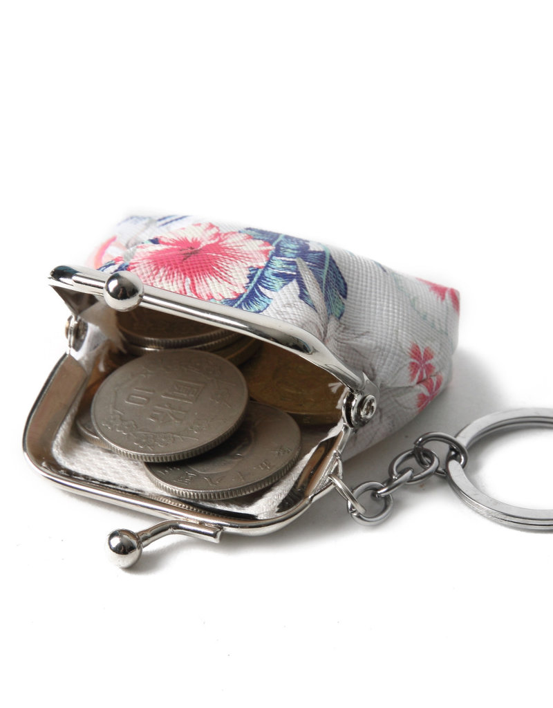 Everyday Hawaii EH Coin Purse Sml Hibiscus Beige