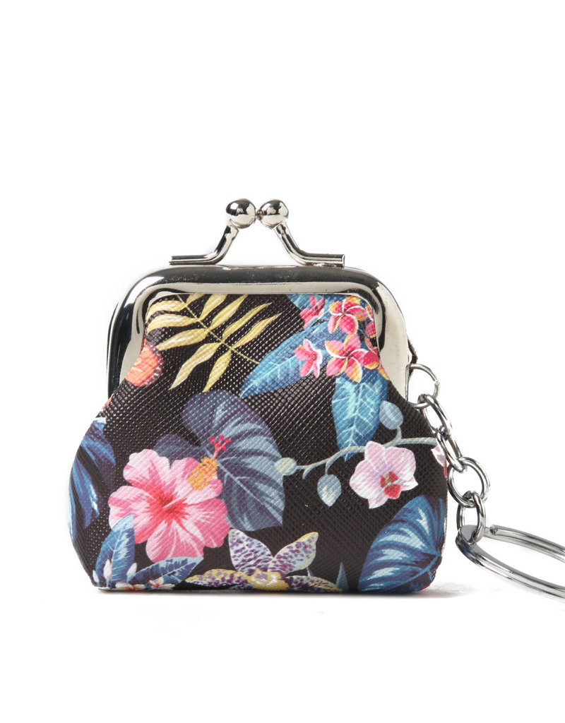 Everyday Hawaii EH Coin Purse Sml Monstera Black