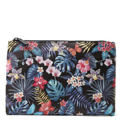 Everyday Hawaii EH Pouch Lrg Hibiscus Black