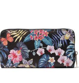 Everyday Hawaii EH Wallet Long Hibiscus Black