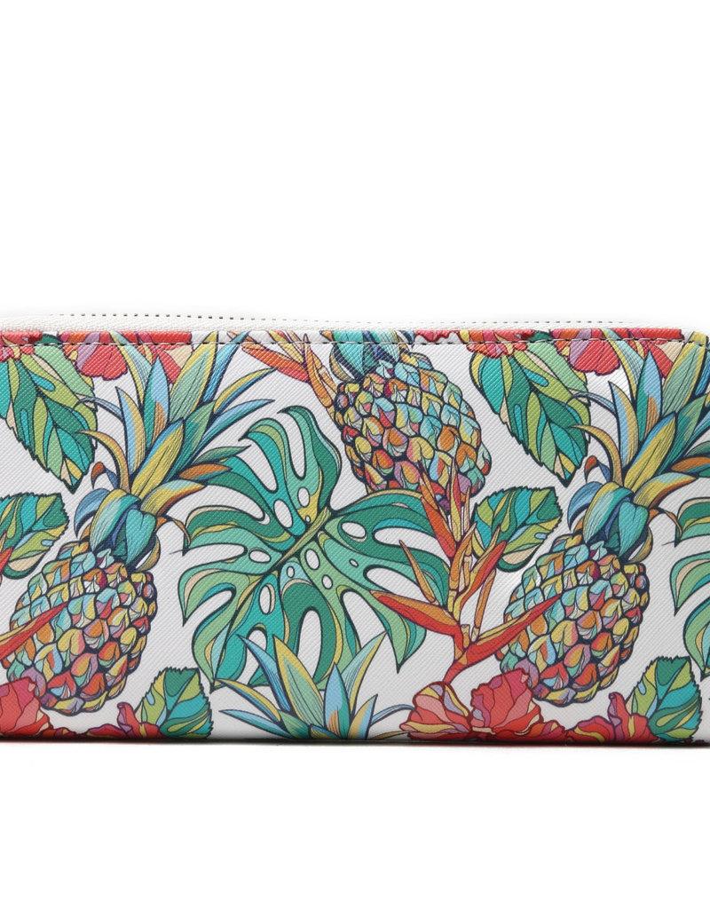 Everyday Hawaii EH Wallet Long Pineapple Beige