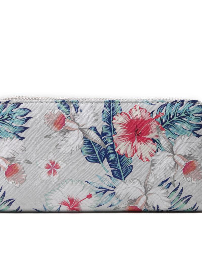 Everyday Hawaii EH Wallet Long Hibiscus Beige