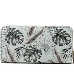 Everyday Hawaii EH Wallet Long Monstera Teal