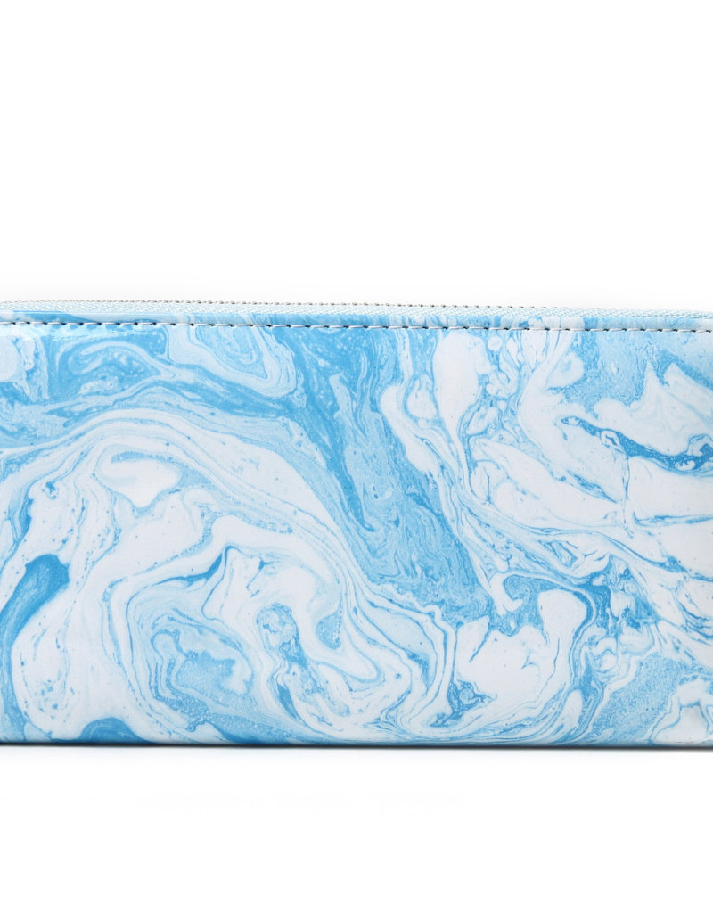 Everyday Hawaii EH Wallet Long Ocean Blue White