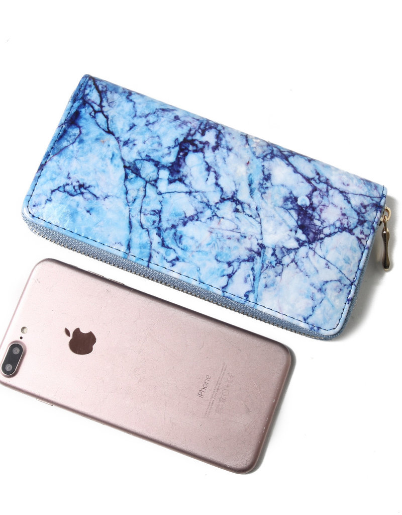 Everyday Hawaii EH Wallet Long Marble Blue