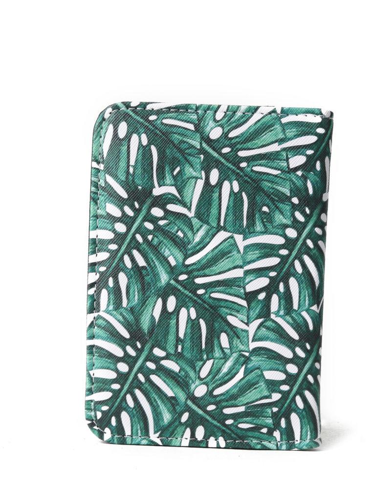 Everyday Hawaii EH Passport Case Monstera Green