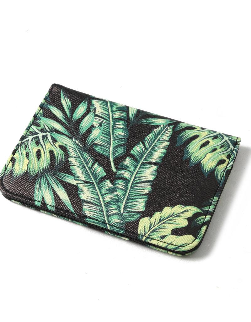 Everyday Hawaii EH Passport Case Monstera Black