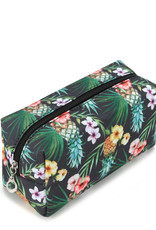 Everyday Hawaii EH Nylon Pouch Med Pineapple Black