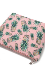 Everyday Hawaii EH Nylon Pouch Lrg Pineapple Pink