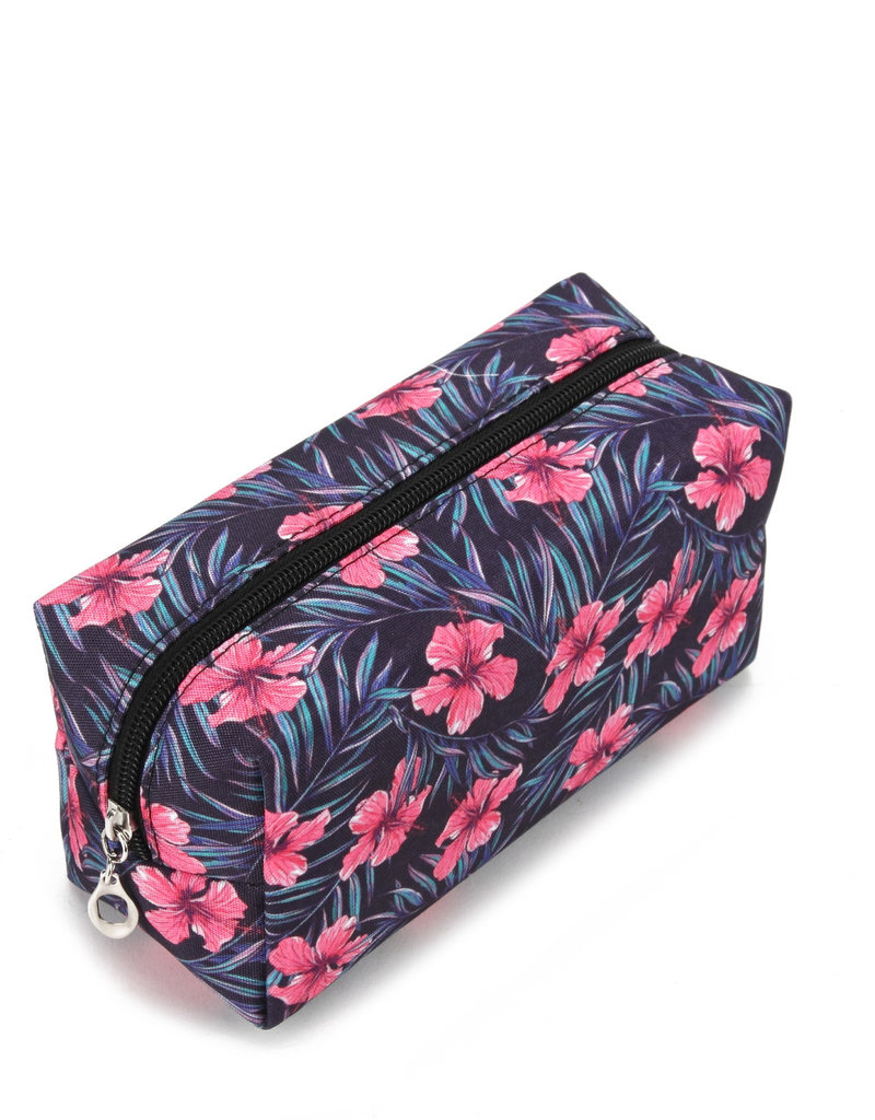 Everyday Hawaii EH Nylon Pouch Med Hibiscus Pink
