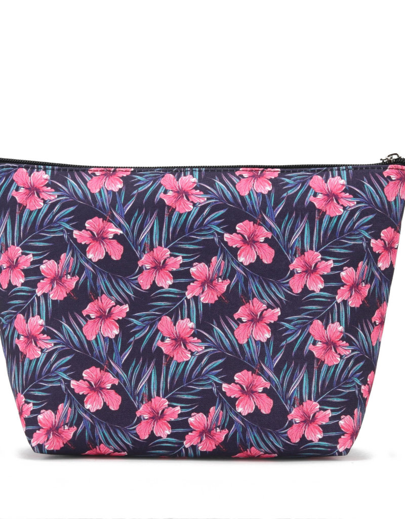 Everyday Hawaii EH Nylon Pouch Lrg Hibiscus Pink
