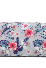 Everyday Hawaii EH Nylon Pouch Med Hibiscus Grey